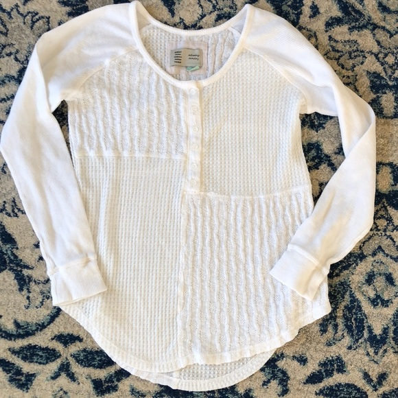 Anthropologie Tops - Anthropologie Saturday/Sunday Cozy Waffle Top XS